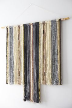 Yarn wall hanging modern tapestry XXL / extra large Wool
