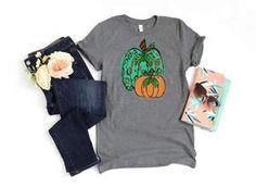 Cheetah Pumpkins Shirt Fall Shirts, Cheetah, Pumpkins, Shirt Style, Size Chart, Cotton, Mens Tops, Women, Fashion