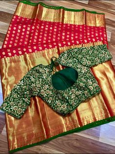 The Effective Pictures We Offer You About blouse designs for girls A quality picture can tell you ma Wedding Saree Blouse Designs, Pattu Saree Blouse Designs, Fancy Blouse Designs, Blouse Neck Designs, Traditional Blouse Designs, Hand Work Blouse Design, Silk Sarees, Saree Backless, Saree Models