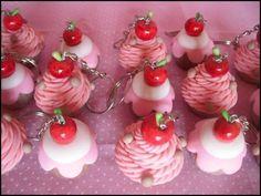 Chaveiro cupcake, pedido mínimo de 30 unidades