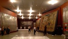 In this post, Sarah Mallory speaks with Exhibition Designer Dan Kershaw about the process of conceiving and constructing the gallery spaces in Grand Design: Pieter Coecke van Aelst and Renaissance Tapestry. | View of the gallery with the tapestries being hung #tapestrytuesday #granddesign
