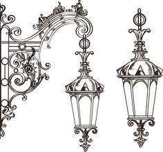 Design, Ornament Drawing, Art Drawings, Drawings, Lantern Tattoo, Doodle Art, Art Projects, Art Nouveau, Christmas Drawing