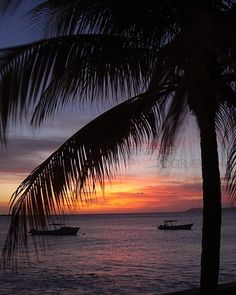 Sunset - Bonaire Island in the Caribbean