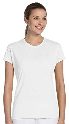 3039e251 Gildan Ladies Performance Knit T-Shirt, WHITE, Small. (Pack of 5) at Amazon  Women's Clothing store:
