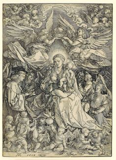 Albrecht Dürer, The Virgin and Child Surrounded by Angel, 1518, woodcut, Archer M. Huntington Museum Fund, 1995.