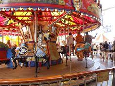 The carousel in the Boardwalk neighborhood on Oasis of the Seas.