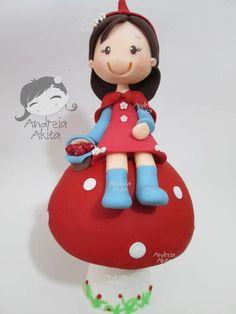 Chapeuzinho Vermelho 25 cm | Andreia Akita | 295D1A - Elo7