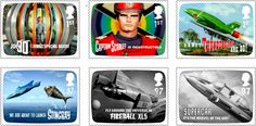 Gerry Anderson stamps! Wow! This stuff was HUGE in the U.K.