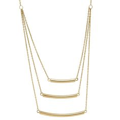 Layered Graduated Bar Necklace in 14K Yellow Gold - #SamsClub x #MIGM