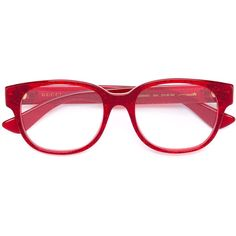 a48fadebabe Gucci Eyewear transparent glitter rectangular glasses (508 CAD) ❤ liked on  Polyvore featuring accessories