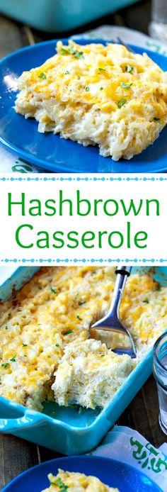 Super creamy and cheesy Hashbrown Casserole just like Cracker Barrel's. #ad