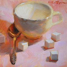 "Daily Paintworks - ""Pink Sugar"" - Original Fine Art for Sale - © Elena Katsyura Painting Still Life, Paintings I Love, Small Paintings, Beautiful Paintings, Food Painting, Oil Painting For Sale, Inspiration Artistique, Impressionism Art, Arte Popular"