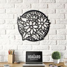 Hoagard - Metal Wall Art and Decorations Laser Art, 3d Laser, Wooden Wall Art, Metal Wall Art, Cnc Cutting Design, Mandala Artwork, Wall Art Designs, Metal Walls, Origami