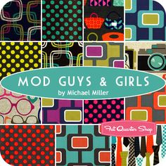 love those fluro dots !  Mod Guys & Girls Yardage Michael Miller Fabrics