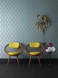 Mid Century Modern (60s) chair love! #DreamDigsSweeps Loving these colors too!
