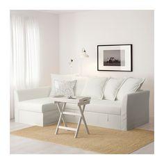 HOLMSUND Kinyitható sarokkanapé - Ransta fehér - IKEA
