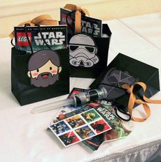 Star Wars themed birthday party via Kara's Party Ideas KarasPartyIdeas.com Cake, banners, invitation, supplies, food, favors, and more! #starwars #starwarsparty #starwarscake #maytheforcebewithyou (10)