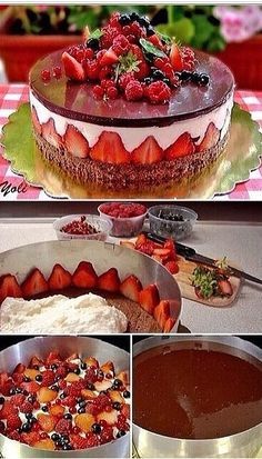 """Beautiful cake that would be a fun challenge to make- could even do it as a red white and blue cake for our annual Fourth of July """"unique dessert"""" Secret Chocolate Chip Cookie Recipe, Chocolate Chip Cookies, Chocolate Cake, White Chocolate, Chocolate Moose, Chocolate Frosting, Chocolate Cheesecake, Chocolate Pudding, Just Desserts"""