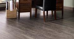 "Show details for Mannington Restoration Collection Black Forest Oak 6- 3/16""- Fumed. Gray laminate,wide plank, smooth"