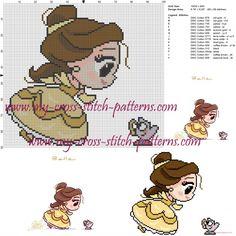 Chibi Belle cross stitch pattern