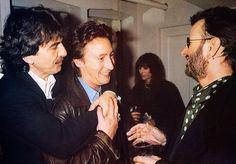 George Harrison, Julian Lennon and Ringo Starr Beatles Photos, The Beatles, Julian Lennon, John Charles, Big Photo, The Fab Four, Music Photo, Ringo Starr, Have A Laugh