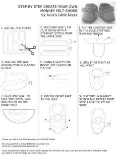 Monkey baby booties instructions