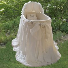 Edinburgh Bassinet With Linens : Bassinets And Cradles at PoshTots, nursery baby glam