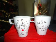 Selo de Natal e Estrelas  1 Caneca Cheia de Amor! ♡♡♡