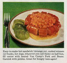 3 ways to enjoy beans 'n weiners - 1961