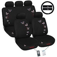 Pink Rhinestone Princess Crown Car Seat Cover Set Very Girly