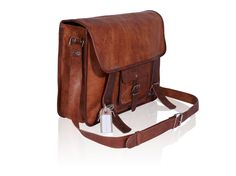 Leather Satchel / Messenger / Laptop Bag  Mens  by LortonandHorn, $95.00