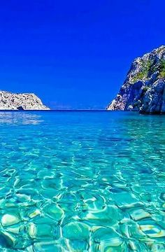 The Vathi Beach, Kalymnos Island, Dodecanese, Greece