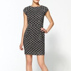 """NWOT Dot Print Wool Dress by Dolce Vita Condition: Perfect, Brand New without Tags‼️ Size: SMALL Fabric: Acrylic/Polyester/Wool Blend Length: approx. 34"""" Care: Dry clean only Details: Round neckline, cap sleeves, fold-over detail at back with exposed zipper closure, seamed waist, pleated skirt, center back vent, fully lined (100% polyester). The material is thick/heavy, great quality, no stretch. Model wearing size S. Mint/perfect condition, brand new, tags removed, never wore. Dolce Vita…"""