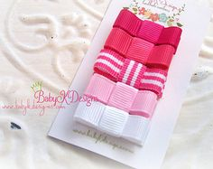 TWO Baby K Designs girl snap clips/ Baby Bow Clips by BabyKDesigns