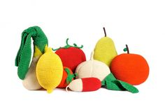 anne claire petit's fruit cushions. I love the fact that they're so big ! Want one for my couch.