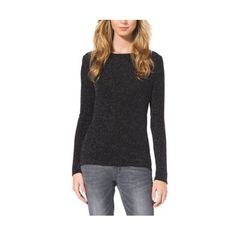 Cheap MK Outlet Online & MICHAEL MICHAEL KORS Long-Sleeve Cowl-Back Top BLACK/SILVER