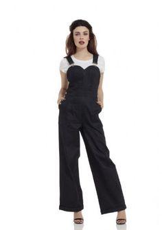 Rosie the Riveter denim jumpsuit #BlueDenim #Indigo #DenimJumpsuit #RosieTheRiveter #Sweetheart