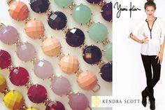 Two of my faves: Kendra Scott Jewelry + Yumi Kim clothing = YumiKimKendraScottland :)  (photo and logo credits: yumikim.com and kendrascott.com)
