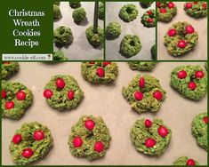 No-Bake Christmas Wreath Cookies Recipe: Easy Kids Christmas Cookie Recipe Easy No Bake Cookies, Cookies For Kids, No Bake Treats, Cake Cookies, Christmas Goodies, Christmas Candy, Christmas Treats, Kids Christmas, Holiday