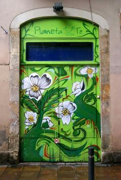 Flower power door.