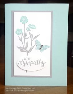 """Inspiration: This is actually a """"re-make"""" of this card using different stamps but keeping the color scheme close to the same. Tips: Although it doesn't show up in the picture, adding Wink of Stella t"""