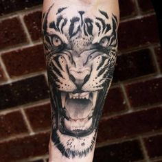 Tiger tattoo by Tye Harris