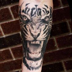 Tiger tattoo by Tye Harris