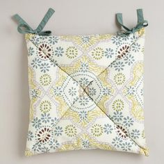 How to make chair cushions. Yellow patterned for one side, and white ...