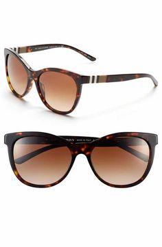 Burberry 58mm Check Detail Sunglasses