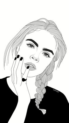 Fascinare: A Graphic Portfolio by Luhveli - Aesthetic Outline Edits - Wattpad Tumblr Girl Drawing, Tumblr Sketches, Girl Drawing Sketches, Tumblr Drawings, Girl Sketch, Cute Drawings, Teenage Drawings, Girl Outlines, Graphic Portfolio