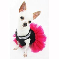Cute Black Pink Dog Tutu Dresses with Bling-bling Handmade Crochet Pet Clothes Puppy Clothing Celebrity Chihuahua Dress Df12 By Myknitt - Free Shipipng (Small) Myknitt http://www.amazon.com/dp/B00QISNW4E/ref=cm_sw_r_pi_dp_7Br9wb034PMWZ  50 each