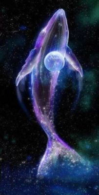 space nebula purple whale cosmic Sirian