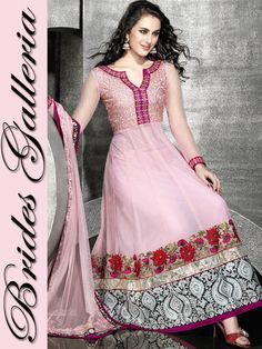 Baby Pink Net Churidar Kameez baby pink churidar kameez [BGSU 6464] - US $177.16 :  this one is lovely
