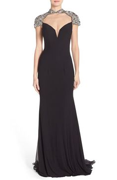 Sean Collection Embellished Jersey Gown available at #Nordstrom